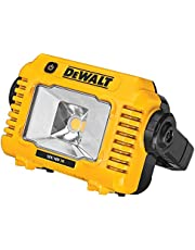 DEWALT Led-accu-bouwplaatslamp DCL077 (zeer hoge lichtsterkte tot 2.000 lumen, robuuste multi-positiestreep, IP54, met statiefopname 1/4 inch en 5/8 inch, levering zonder accu en oplader)