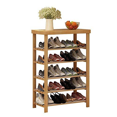 YAeele Bastidores del zapato de la nuez 5-Tier zapatero zapato del organizador del almacenaje Uso closet dormitorio Puerta de entrada 31.5' x 10.6' x 40.2' Ahorro de espacio Fácil Ensamble (Color: Nog