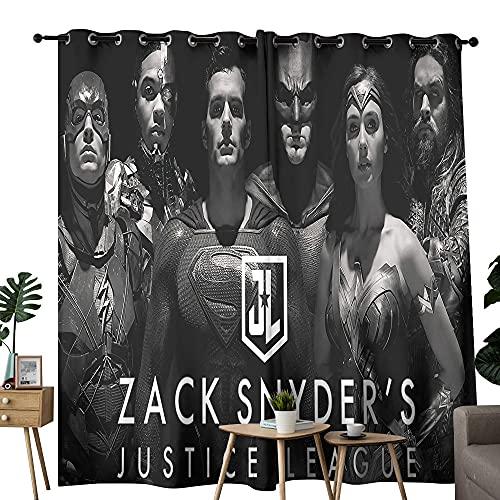 Cortinas opacas de la Liga de la Justicia de Zach Snyder lanza carteles de moda ilustración cortinas personalizadas 254 x 213 cm