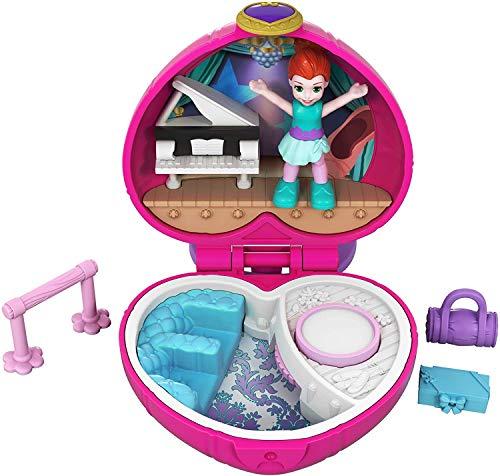 Polly Pocket Mini cofre espectáculo de ballet, muñeca con accesorios (Mattel FWN41)