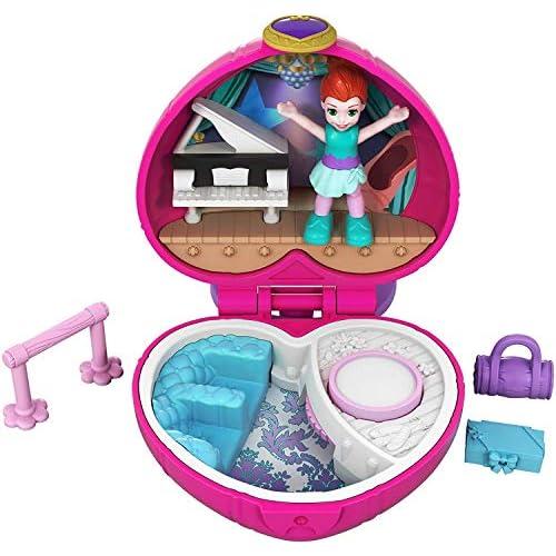 Polly Pocket- Mini Cofanetto Campeggio di Shani, con una Bambola, Giocattolo per Bambini 4+ Anni, FWN41