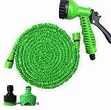 15M Flexibler Gartenschlauch,mit 7 Funktions Spray,einziehbar,leicht und einfach zu verstauen,für Garten/Haustier/Autowaschanlage/Haus(15M)
