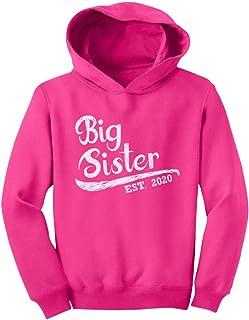 Big Sister Est 2020 - Sibling Gift Idea Toddler Hoodie