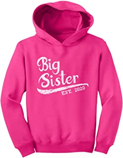Big Sister Est 2020 - Sibling Gift Idea Toddler Hoodie