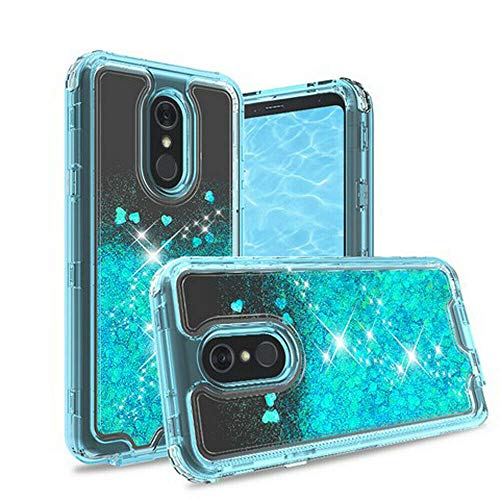 Wydan Case for LG Stylo 5 - Liquid Glitter Bling Hybrid Heavy Duty Shockproof Phone Cover