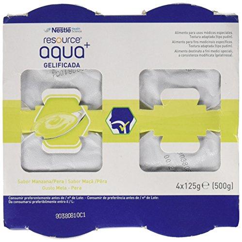 Meritene Resource Aqua+ Gelificada Manzana-Pera 4Tarrinas 300 g