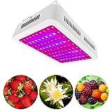 1000W LEDライト、100個の省エネダブルチップLED、53.8平方フィートの照明エリア、野菜用のブルームとベジモードのフルスペクトル植物成長ランプ、フルーツ、屋内温室の花