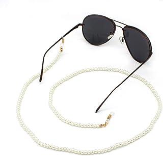 PULABO Bijoux de perles classiques Chaîne de lunettes à double usage Lunettes de soleil suspendues pour femme Accessoires ...