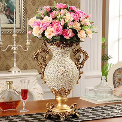 TELMU Kreative geometrische Vase Foreign Palace Diamant große Harz