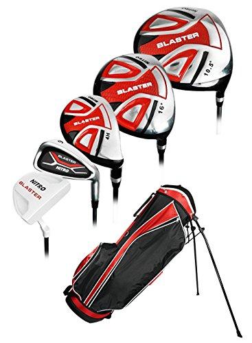 Nitro Golf- Blaster 13 Piece Complete Set with Bag Graphite/Steel Uniflex