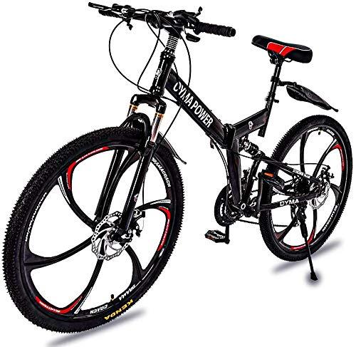 """Folding Mountain Bike Full Suspension 26/"""" 21 Speed Disc Brake Mens Bicycle USA"""