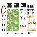 Gikfun AT89C2051 - Juego de 6 puntas para hacer manualidades con LED digital y electrónica de soldadura con placa de aprendizaje AT89C2051 para Arduino EK1323U