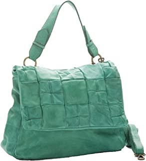 BZNA Bag Yasmin mint grün Italy Designer Messenger Damen Handtasche Schultertasche Tasche Leder Shopper Neu