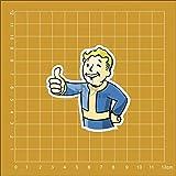 Gadgets Wrap Vinyl Game Fallout 4 Notebook Refrigerator Skateboard Sticker (60 cm X 5 cm X 5 cm, Multicolor)