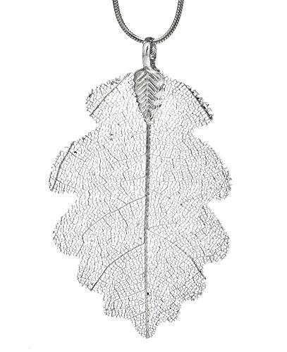Ana Morales Damen-Anhänger Eichelblatt versilbert Blattlänge ca 60mm