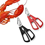 2pcs Seafood Forbici per Gamberi, Forbici Cucina Smontabili, FAcciaio Inossidabile, Forbici da cucina – Best multiuso da cucina forbici per pollame, frutti di mare, conchiglia, erbe, Scissoring