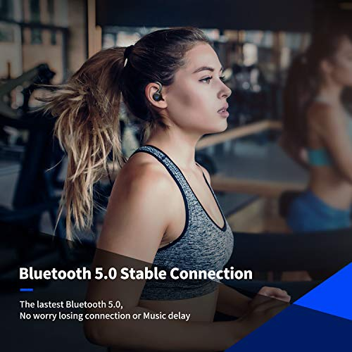 Axloie Sports Wireless Earbuds Bluetooth 5.0 Headphones True Wireless Deep Bass in-Ear Mini TWS Stere   o IPX7 Waterproof 25H Playtime Wireless Earphones with Charging Case for Running Workout Gym iPhone