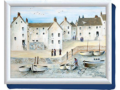 Creative Tops Cornish Harbour Bean Bag Cushion Laptray, Multicolour