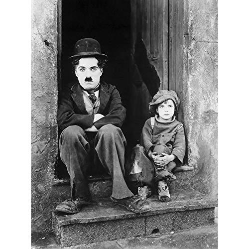 Silent Movie Still Charlie Chaplin The Kid Photo Extra Large XL Wall Art Poster Print Film Immer noch Fotografieren Wand Poster drucken