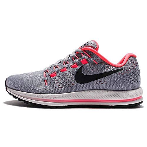 Nike Women's Wmns Air Zoom Vomero 12 Running Shoes, Grey (Wolf Grey/Pure Platinum/Hot Punch/Black), 2.5 UK