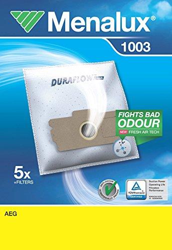 Menalux 1003 5 Sacs Aspirateur Compatible pour AEG + 2 Micro Filtres