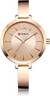 CURREN 9012 Women Watch Quartz Movement Wrist Watch Simple Causal Gift for Women
