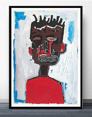 MJKLU RetroBlack Dirty Braid Boy Street Graffiti Lienzo Pintura Carteles y murales de Grabado para decoración del hogar en Art Deco 30X40CM