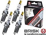 BRISK Iridium Premium+ Plus P2 1620 Bougies d'allumage, 4 pièces