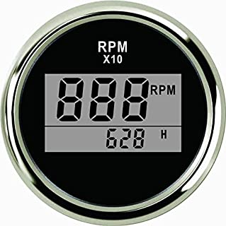 ELING Universal Digital Tachometer RPM REV Counter RPM with Hour Meter 52mm(2