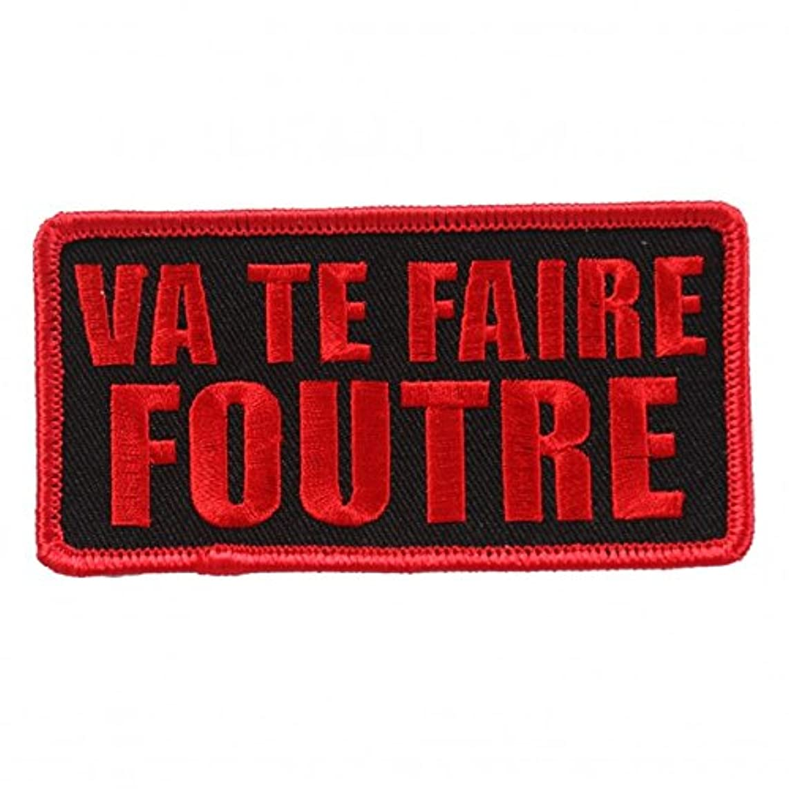 VA TE FAIRE FOUTRE, High Thread Embroidered Iron-On / Saw-On, Heat Sealed Backing Rayon PATCH - 4