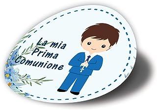 20 pezzi Adesivi tondi Prima Comunione bimbo, 40 millimetri, etichette cresima, thank you stickers, grazie, festa, tondo, ...