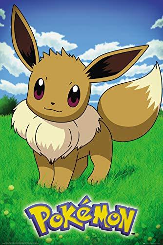 Pokémon G874765 Poster Eevee, Mehrfarbig, 61 x 91,5 cm, 2 Einzelteil