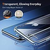 TORRAS Diamond Series für iPhone 7/8/SE 2020 Hülle (Vergilbungsfrei) Extrem Transparent iPhone SE Hülle/iPhone 8 Hülle/iPhone 7 Hülle Hard Back und Silikon Bumper Handyhülle (Durchsichtig)