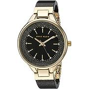 Anne Klein Women's Swarovski Crystal Accented Resin Bangle Watch, AK/1408