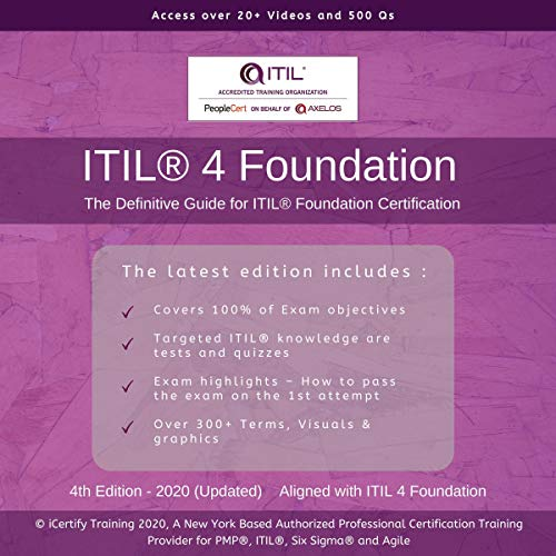 Couverture de ITIL® 4 Foundation: The Definitive Guide for ITIL ® 4 Foundation Certification