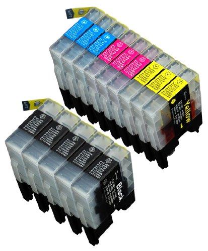 14 Multipack de alta capacidad Brother LC1240 , LC1280 Cartuchos Compatibles 5 negro, 3 ciano, 3 magenta, 3 amarillo para Brother DCP-J525W, DCP-J725DW, DCP-J925DW, MFC-J430W, MFC-J5910DW, MFC-J625DW, MFC-J6510DW, MFC-J6710DW, MFC-J6910DW, MFC-J825DW. Cartucho de tinta . LC-1240BK , LC-1240C , LC-1240M , LC-1240Y © 123 Cartucho