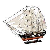 XIUYU Militar Modelo del Barco de Vela, Charles W Morgan Ballenera velero Modelo de EE.UU, decoración del hogar y Regalos, 15.4inch X 11.8Inch