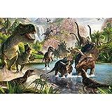GYZ Puzzles, Dinosaur Volcano, Puzzle de 300 Piezas, Puzzle de Madera, Adecuado para Padres de Familia, Niños, Amigos, Juego de descompresión de Rompecabezas Bricolaje