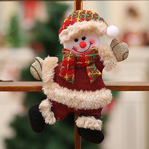 CRITY Anhänger, Weihnachtsmann Wandhalterung Puppe Weihnachtsbaum Schlüsselband Garten Zuhause Dekoration (A)