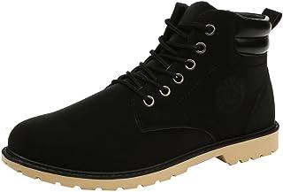 Bottes Homme, Manadlian Bottes et Bottines Classiques Homme Chaudes Sole Lacets Hiver Neige Bottes Couleur Unie Chaussures...