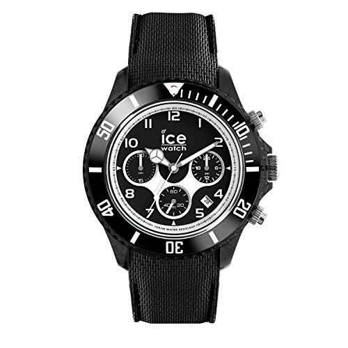 Ice-Watch - ICE dune Black - Men\'s wristwatch with silicon strap - Chrono - 014216 (Large)