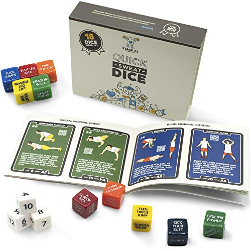 Product Image of the Stack 52 Quick Sweat Fitness Dice. Bodyweight Exercise Workout Game. Designed by...