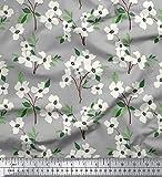 Soimoi 44 Zoll breit Reine Seide Stoff mit Blumenmustern
