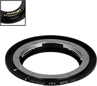Fotodiox Pro Lens Mount Adapter Compatible with Nikon Nikkor F Mount D/SLR Lens to Canon EOS (EF, EF-S) Mount D/SLR Camera...