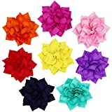 PRUNS Dog Flowers Collar Pet Charms Flower Collars Accessories for Cat Puppy Collars Bowtie Grooming Decoration Pack of 8