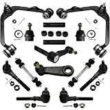 """Detroit Axle - Front Upper Control Arms + Inner And Outer Tie Rods + Sway Bar Links + Pitman & 2.5"""" Bolt Idler Arm Replacement for Ford Expedition F-150 F-250 Lincoln Navigator [4WD Only] - 14pc Set"""