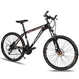 MENG Bicicleta de Montaña de 26 Pulgadas Mtb Bicicleta Suspensión Completa 21/24/27 Velocidades Drivetrain Ciclismo Ciudad Urbana Ciudad de la Ciudad para Adultos para Mujer para Mujer (Tamaño: 27 Ve