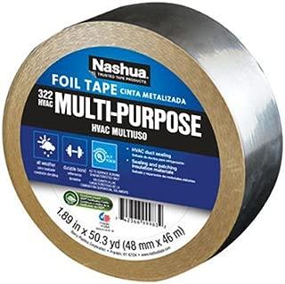 Nashua 322 HVAC Multi-Purpose Foil Tape, 46m Length, 48 mm Width, Aluminum