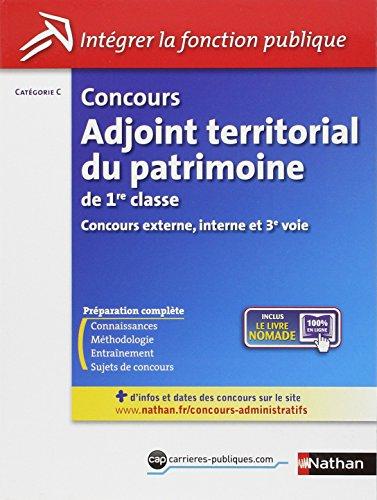 Concours Adjoint territorial du patrimoine de 1re classe