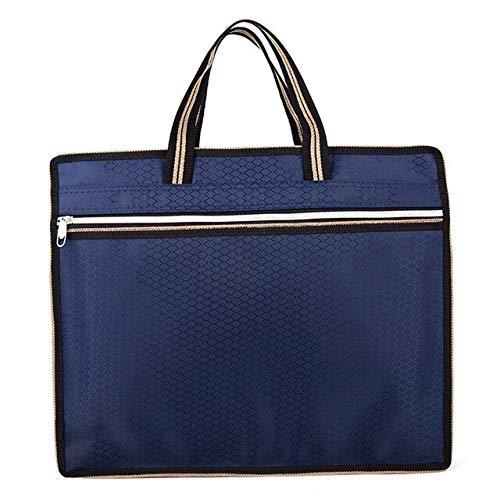 Valigetta porta pc JPDP Coofit New Business per uomo Valigetta da ufficio slim blu scuro compatta Borsa da lavoro con manico blu